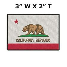 California State Flag Iron On Patch Flag of California Republic