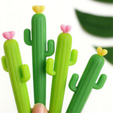 2PCS Cactus Shaped Rollerball Pen Cute Creative 0.5 mm Black Ink Gel Pens