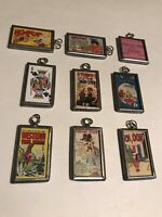 Vintage 1960's Advertisement and Comic Book Cover Style Keychains Set of 9