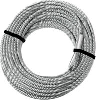 KFI Products ATV-CBL-2K Replacement Stainless Steel Cable 5/32 Silver 57-3905