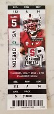 Stanford Cardinal Oregon Ducks Football Full Ticket 11/7 2013 Ben Gardner Stub
