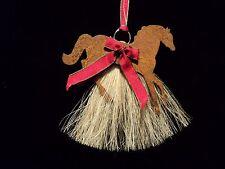Genuine Horsehair  Horse Western Christmas Ornament