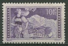 Schweiz 1914 Helvetia in Berner Tracht, Hintergrund: Jungfrau 123 mit Falz