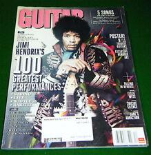 FENDER CUSTOM SHOP 9/11 NYFD TRIBUTE STRATOCASTER Guitar + Hendrix POSTER 2011