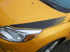 2011-2014 Ford Focus Hood Side Strobe Blackout Rally Racing Stripes Decals