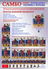 Sambo wrestling poster 1.Self-adhesive glossy paper. A4-210x297mm