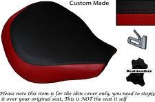 Rojo oscuro y negro Custom encaja Suzuki Vl 800 Volusia Frontal De Cuero Funda De Asiento