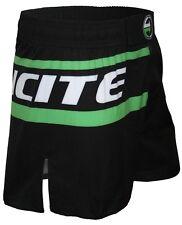 Fight Shorts, Incite, YARI Green BJJ, Nogi, Hybrid MMA, Black, Boxing, BJJ, K1