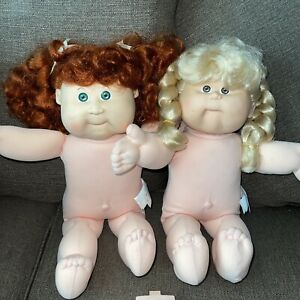 VTG 1987 CABBAGE PATCH TALKING KIDS Naked non Working CPK Lot TLC Doll Coleco