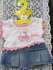 Build A Bear Workshop Hello Kitty Shirt & Pleated Skirt On Hanger