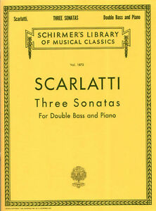 Alessandro Scarlatti 3 Sonaten für Kontrabass und Piano