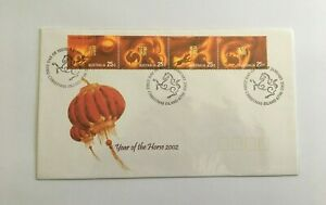 CIFD62) Christmas Island 2002 Year of the Horse FDC