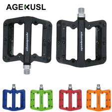 MTB Mountain BMX Bike Pedals Nylon Pedals DH Racing Cycle Flat Plastic Pedal