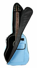 Blue Acoustic Guitar Case Gigbag For Gibson, Ibanez, Tanglewood, Yamaha & Fender
