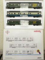 Märklin 41573 H0 InterCity Bahnpostwagen-Set der DBP Epoche 4/5 mit Licht in OVP