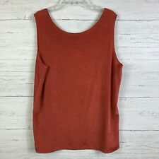 Chico's Travelers Tank Top Size 2 Large Stretch Sleeveless Casual
