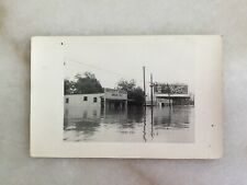 1949 Fort Worth Flood RPPC Postcard Photo Southern Select Billboard