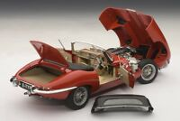 JAGUAR E-Type Roadster Series I 1 3.8 red rot Cabrio AUTOart 73601 Diecast 1:18