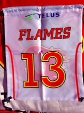 NHL Calgary Flames Hockey Draw String Nap Sack #13 Johnny Gaudreau number