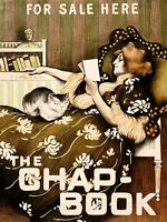 ADVERTISING CULTURAL MAGAZINE CHAP BOOK COVER USA ART POSTER PRINT LV650