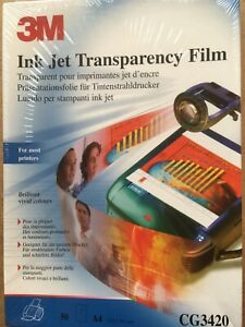 3M Ink Jet Transparency Film - CG3420 - 50 A4 - new, sealed