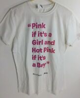 Will And Grace NBC TV Show T Shirt Hulu Gay Pride RARE Baby Quote Pink M White