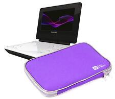 Purple Portable DVD Player Case w/ Padded Lining For Toshiba SDP74SWB, SDP94SKB