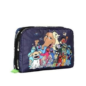 LeSportsac Sesame Extra Large Rectangular Cosmetic Bag in WTAIS NWT