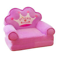Crown Chair Seat for Children Cartoon Folding Chairs Baby Sofa Cover