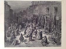 Gustave Dore 1872 antiguo de impresión, Dudley Street-siete diales, Londres, Inglaterra