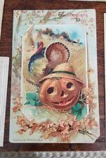 1910 A. Van Beust Vintage Jack-O-Lantern Postcard Pumpkin + Others Halloween