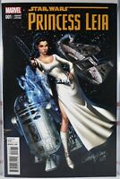 🌟 STAR WARS PRINCESS LEIA #1 NM 1:50 J SCOTT CAMPBELL VARIANT Marvel Comics