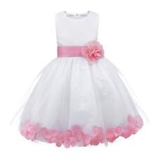 Rose Petals Wedding Flower Girl Dress Kid Baby Bridesmaid Pageant Formal Dresses