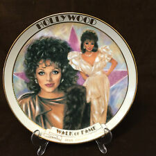 JOAN COLLINS - Rare Ceramic Collectors Plate HOLLYWOOD WALK OF FAME (Boxed) 1983