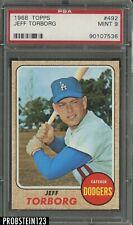 1968 Topps #492 Jeff Torborg Los Angeles Dodgers PSA 9 MINT