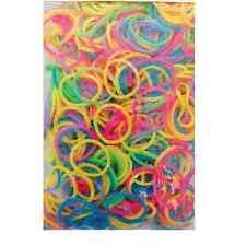 300 Rubber Small Mini Elastic Bands Bright Colours Braiding Plaits Hair Craft