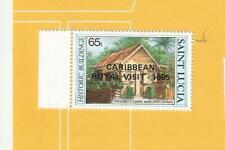 """SAINT LUCIA  1985  - postfrisch**MNH - MiNr. 803 = Aufdruck  """"Besuch Queen"""""""