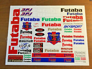 Vintage Team Futaba Decal Sticker Sheet 1/8 1/10 1/12 RC Car Racing