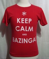 Big Bang Theory KEEP CALM and BAZINGA T Shirt by Ripple Junction - Size S