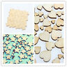 50Pcs Jigsaw Puzzle Pieces Wooden Craft Decor Adorn Making Scrapbooking DIY.
