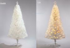 Fibre Optic 6ft Christmas Tree White Lights Multi Function Iridescent Xmas