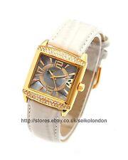 Omax Ladies Diamonte Graphite Dial Watch, Gold Finish, Seiko Movt. RRP £69.99