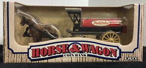 ERTL True Value Hardware Horse Drawn Wagon 1990 Diecast Locking Coin Bank