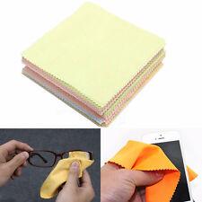 100pcs New Soft Wipe Fiber Cleaning Cloths For Sunglass Eyeglass Glasses