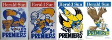 1992 1994 2006 2018 Herald West Coast Eagles Weg Knight Poster Premiers