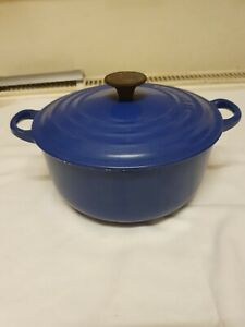 Le Creuset Cast Iron Casserole Royal Blue 20cm Used