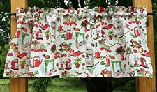 Fifties Style Red Cream Retro 50s Vintage Kitchen Handcrafted Curtain Valance