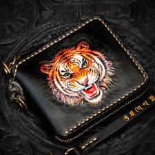 Handmade Genuine Tanned Leather Clutch Wallet Purse for Men Women Card Case