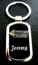 Buick Grand National Black Onyx & Silver Key Chain-Free Hand Engraving