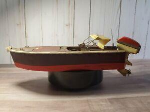 Vintage Fleet Line Battery Boat Stream Line Mermaid Outboard Motor Japan Toy
